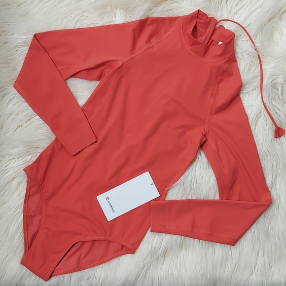 NWT Lululemon Will the Wave LS Med 1-piece